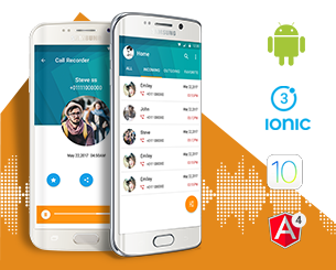 AutoCall Recorder ionic app theme