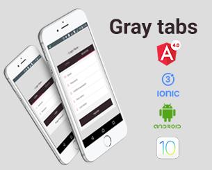Gray_tabs login ionic app theme
