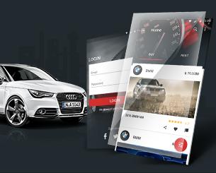 Auto Drive ionic app theme