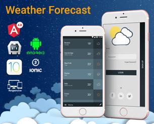 Weather ionic app theme